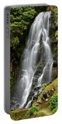 Waterfall At Azores Portable Battery Charger
