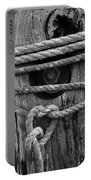 Weathered Rope Portable Battery Charger
