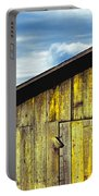 Weathered Wooden Barn, Gaviota, Santa Portable Battery Charger