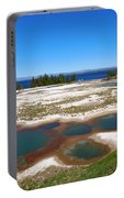 West Thumb Geyser Basin In Yellowstone National Park Portable Battery Charger