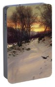 When The West With Evening Glows Portable Battery Charger