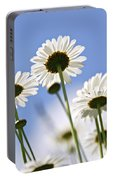 White Daisies Portable Battery Charger