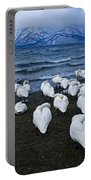 Whooper Swans In Winter Portable Battery Charger