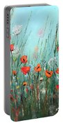 Wild Flowers Portable Battery Charger