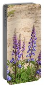 Wild Lupine Flowers Portable Battery Charger