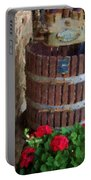 Wine And Geraniums Portable Battery Charger