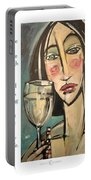 Wine Negativity Poster Portable Battery Charger
