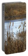 Winter Cattails Portable Battery Charger