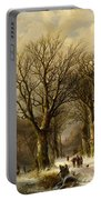 Winter Scene In Reichswald Portable Battery Charger