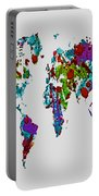 World Map 1b Portable Battery Charger