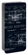Wright Bros Flyer Aeroplane Blueprint  1903 Portable Battery Charger