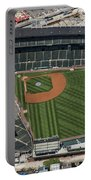 Wrigley Field In Chicago Aerial Photo Portable Battery Charger