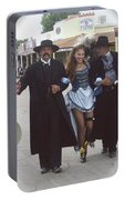 Wyatt Earp  Doc Holiday Escort  Woman  With O.k. Corral In  Background 2004 Portable Battery Charger