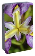 Yellow And Purple Iris Flower Portable Battery Charger