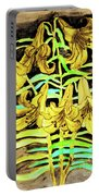 Yellow Lilies, Hand Drawn Painting Portable Battery Charger