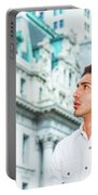 Young American Businessman Looking For Success. Portable Battery Charger