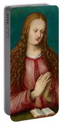 Young Woman Praying Portable Battery Charger