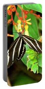 Zebra Longwing On Firebush  Portable Battery Charger