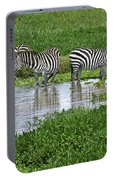 Zebras In The Swamp Portable Battery Charger