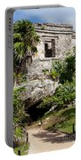 Mayan Temples At Tulum, Mexico Portable Battery Charger
