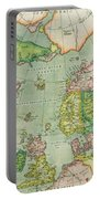 Old Map Portable Battery Charger