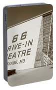Route 66 - Drive-in Theatre Portable Battery Charger