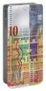 10 Swiss Franc Bill Portable Battery Charger
