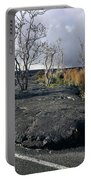 100925 Lava Flow On Road Hi Portable Battery Charger