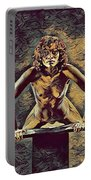 1032s-zac Fit Black Woman On Platform In The Style Of Antonio Bravo Portable Battery Charger by Chris Maher