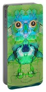 1045   Flower Owl 2017 Portable Battery Charger