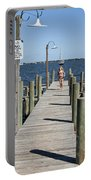 Indian River Lagoon At Eau Gallie In Florida Usa Portable Battery Charger