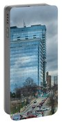 Atlanta Downtown Skyline Scenes In January On Cloudy Day Portable Battery Charger