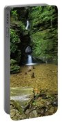 Beautiful Flowing Waterfall With Magical Fairytale Feel In Lush  Portable Battery Charger