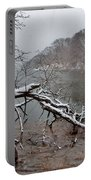 The Bass River In Winter Portable Battery Charger