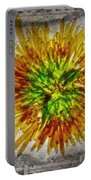 11262 Flower Abstract Series 02 #16a Portable Battery Charger
