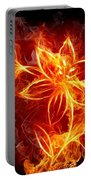 112775 Flowers Fire Portable Battery Charger