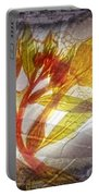 11315 Flower Abstract Series 03 #13 Portable Battery Charger