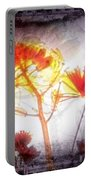 11318 Flower Abstract Series 03 #16 Portable Battery Charger