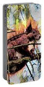 11451 Red Squirrel Sketch Portable Battery Charger
