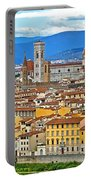 1167 Florence Italy Panorama Portable Battery Charger