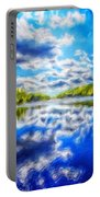 Nature Art Landscape Canvas Art Paintings Oil Portable Battery Charger