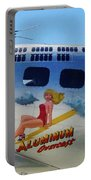 B-17 Bomber Nose Art Portable Battery Charger