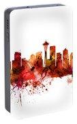 Seattle Washington Skyline Portable Battery Charger