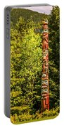 Totems Art And Carvings At Saxman Village In Ketchikan Alaska Portable Battery Charger
