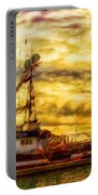 Nature Oil Canvas Landscape Portable Battery Charger