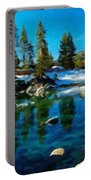 Nature Oil Canvas Landscape Portable Battery Charger