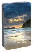 Cloudy Sunrise Seascape Portable Battery Charger