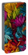 Daisy Petals Abstracts Portable Battery Charger