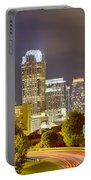 Downtown Of Charlotte  North Carolina Skyline Portable Battery Charger