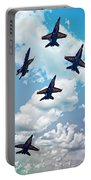Navy Blue Angels Portable Battery Charger